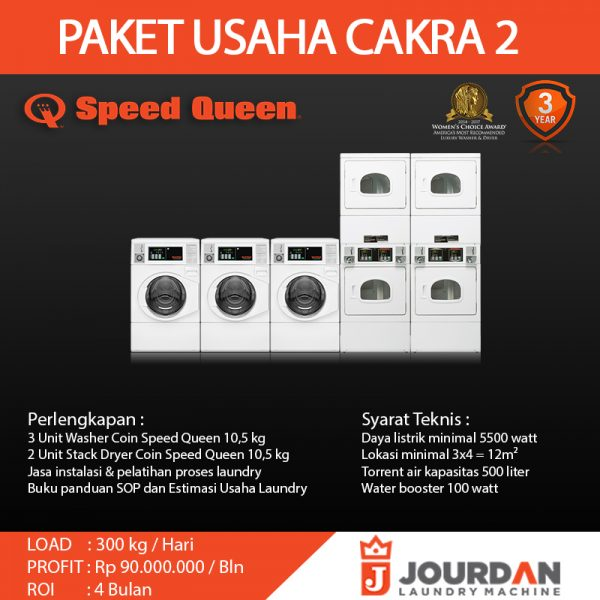 Paket Coin Laundry Cakra 2 Jourdan Mesin Laundry